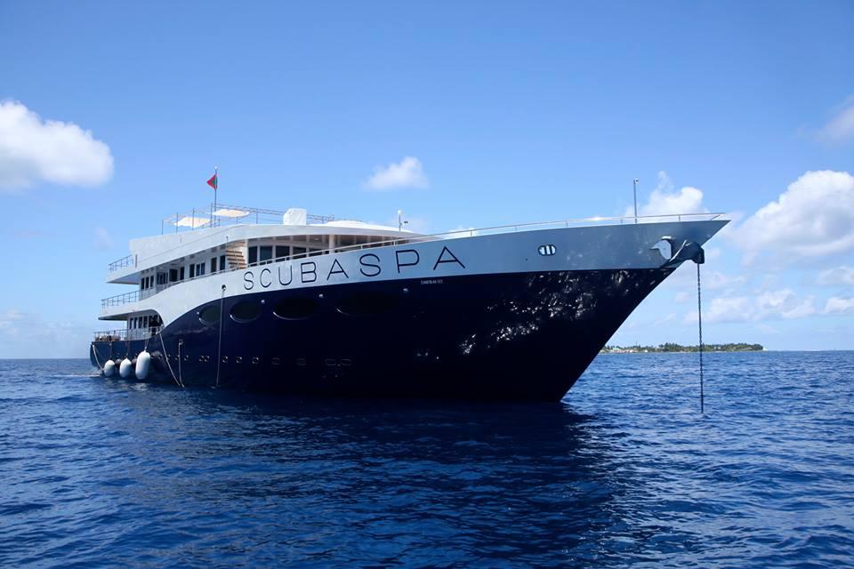 Яхта Scubaspa на Мальдивах